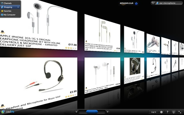 Amazon search for ear microphones on CoolIris