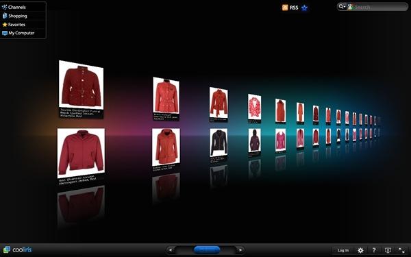 John Lewis jackets scrolling on CoolIris plugin